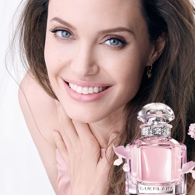 Guerlain unveils Mon Guerlain Sparkling Bouquet eau de parfum campaign with Angelina Jolie.