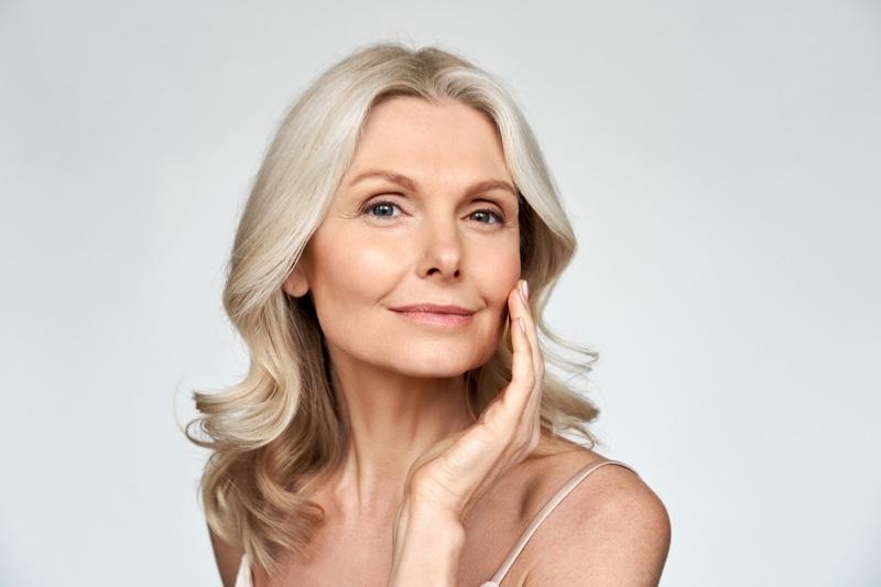 Attractive Older Woman Skin Beauty