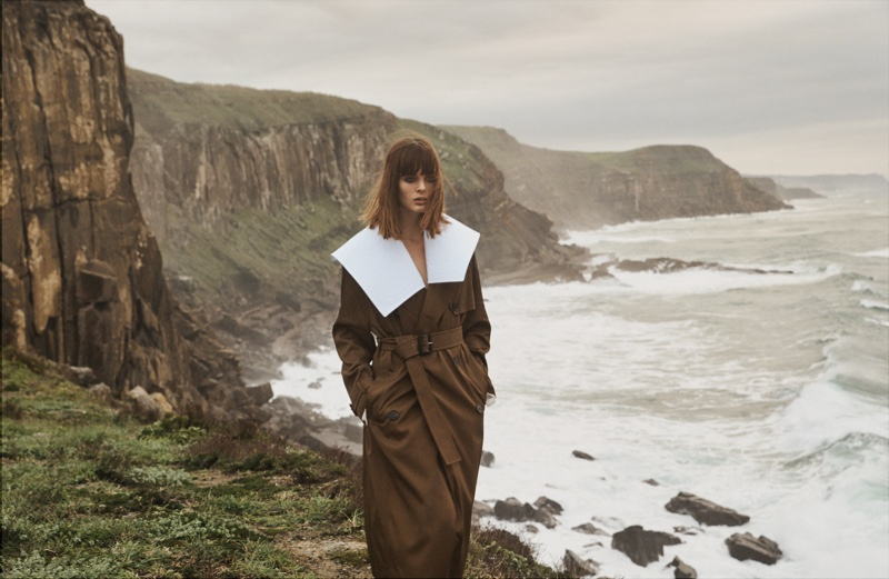 Aylah Peterson Models Chic Trench Coats for WSJ. Magazine