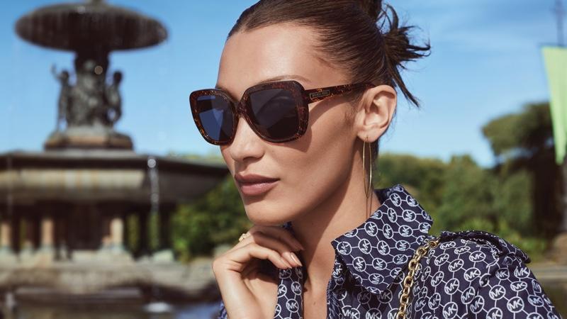 Bella Hadid wears Michael Kors MK 2140 MANHASSET sunglasses.