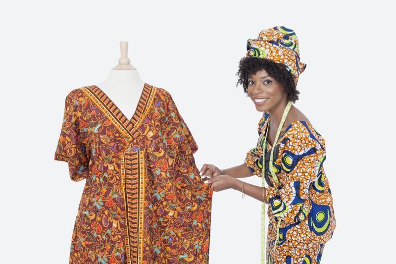 Black Female Designer Dashiki Dress Form