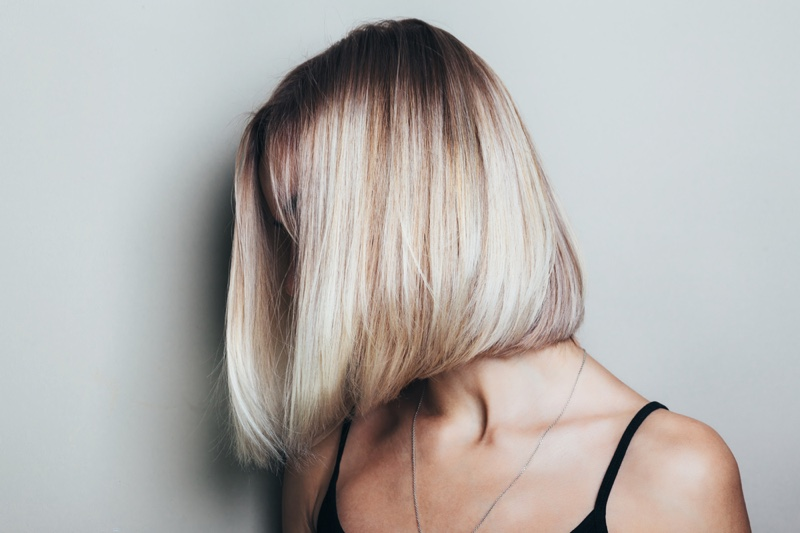 Blonde Hair Bob Multidimensional Color