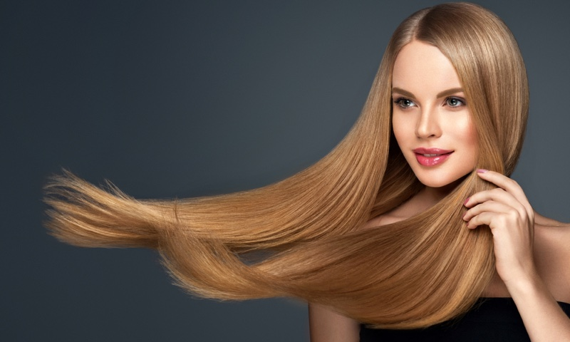 Blonde Model Long Hair Glamorous