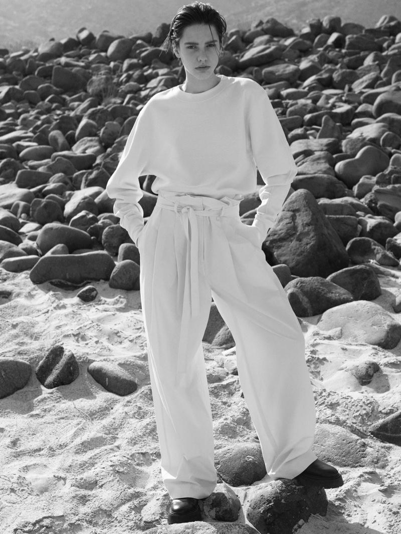 Elsa Gelhard fronts COS spring-summer 2021 campaign.