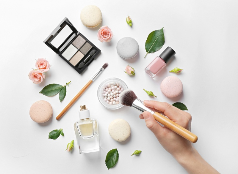 Cosmetics White Background Clean Leaves Natural