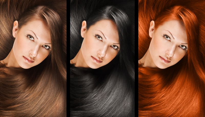 Different Hair Color Options Model