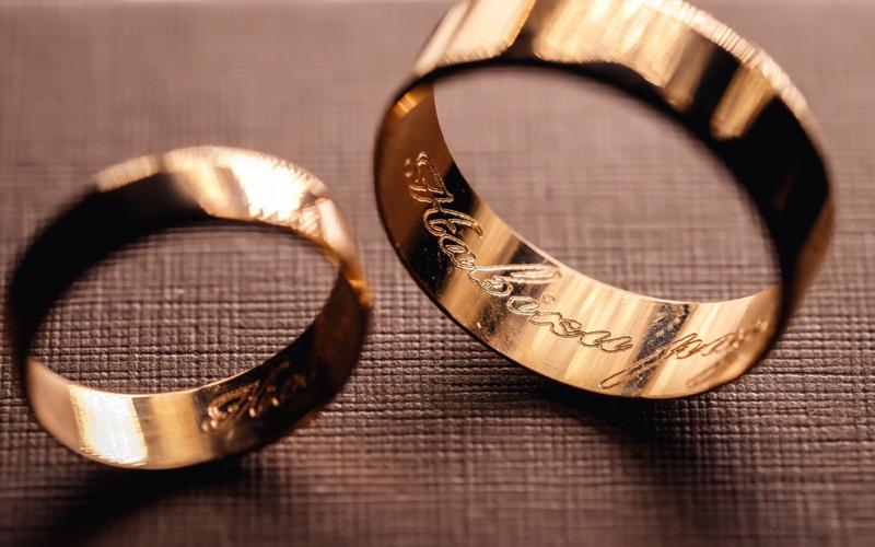 Engraved Wedding Rings Words