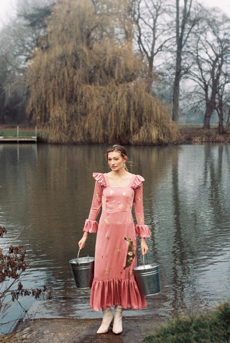 Galina Woodroffe Wears Romantic Styles for ELLE Croatia