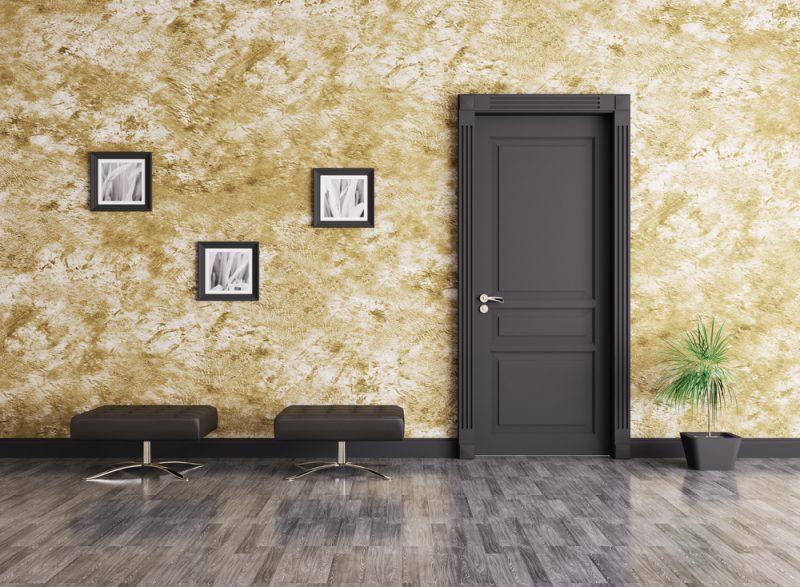Interior Black Door