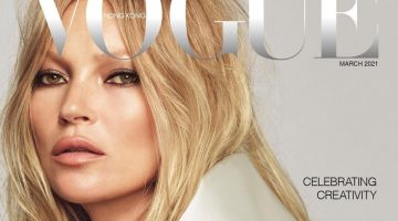 Kate Moss on Vogue Hong Kong March 2021 Cover.