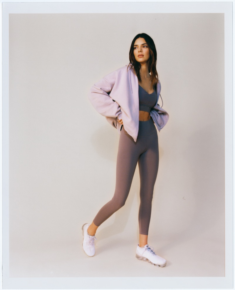 Alo Yoga's new designs modeled by Kendall Jenner.