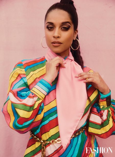 Social media star Lily Singh wears Gucci look with David Yurman earrings. Photo: Austin Hargrave / FASHION