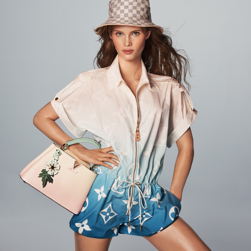 Ida Heiner poses for Louis Vuitton Summer 2021 campaign.