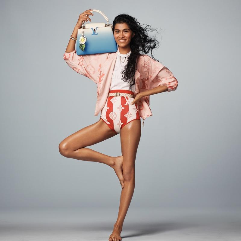 Ashley Radjarame stars in Louis Vuitton summer 2021 campaign.