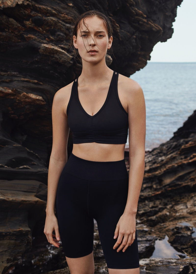 Mango focuses on seamless designs for its spring-summer 2021 activewear collection.