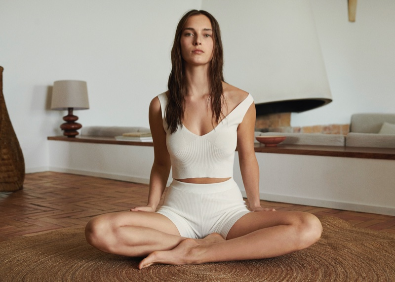 A look from Mango's spring-summer 2021 activewear collection.