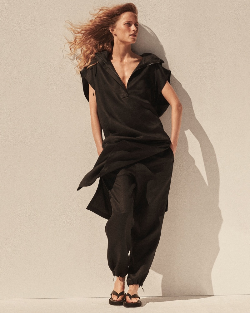 Rianne van Rompaey Models Massimo Dutti Limited Edition Spring 2021 Collection