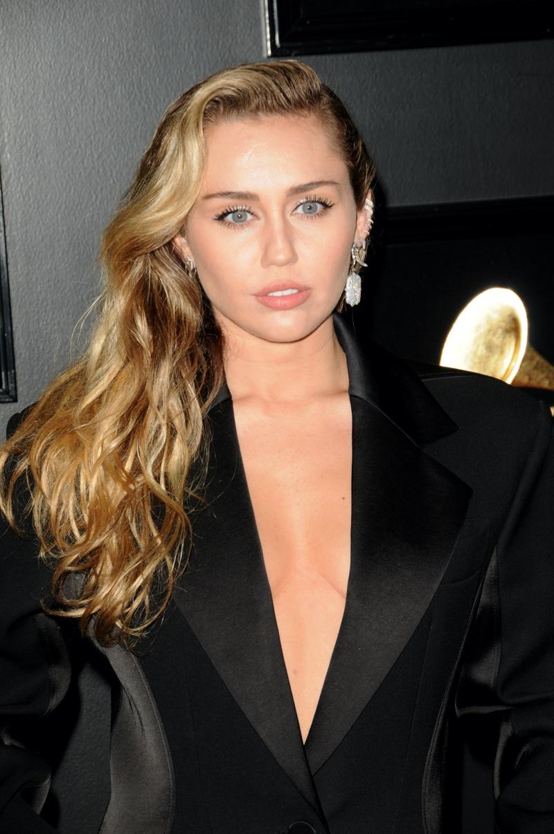 Miley Cyrus Black Suit Jacket
