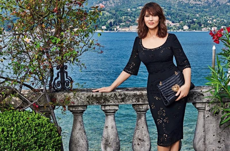 Monica Bellucci stars in Dolce & Gabbana Devotion handbag campaign.