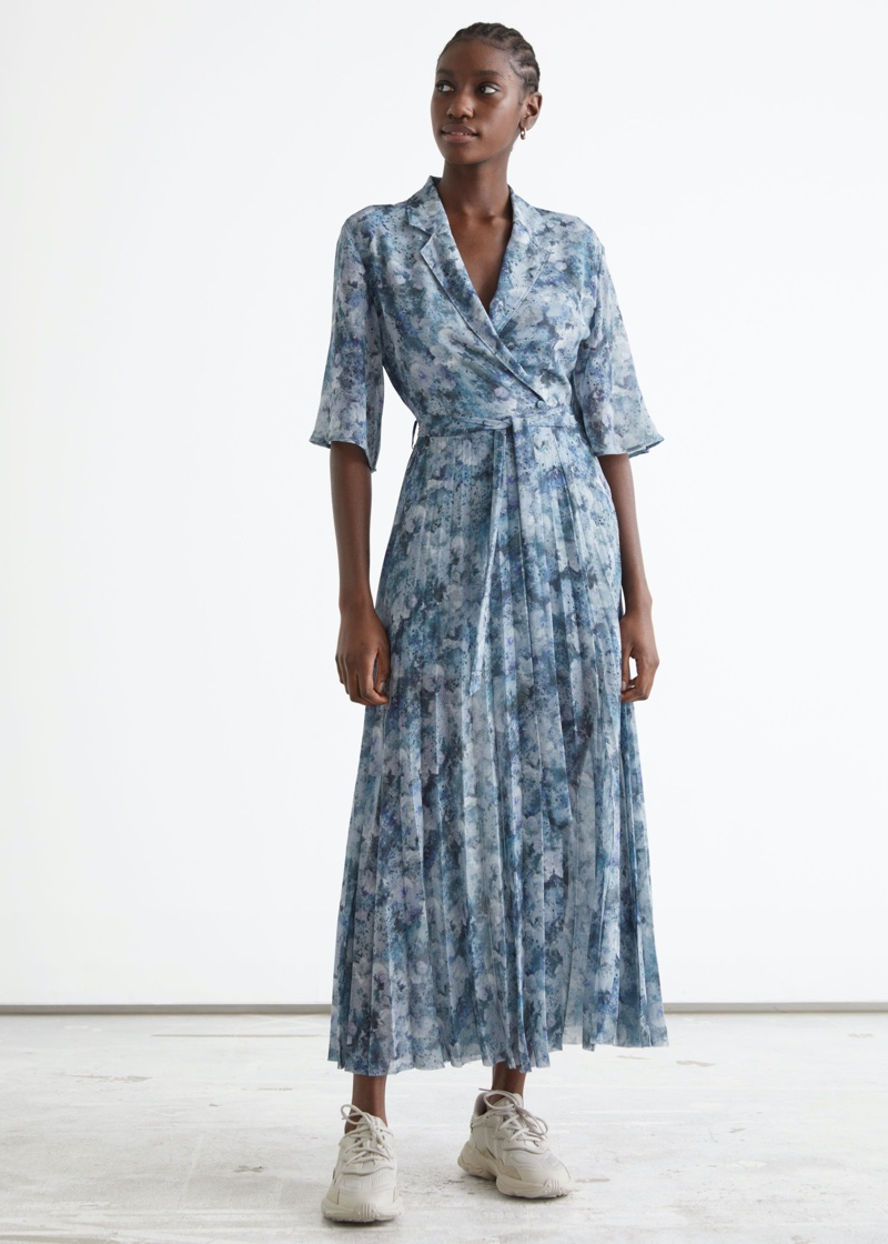 & Other Stories Floaty Pleated Midi Dress $129