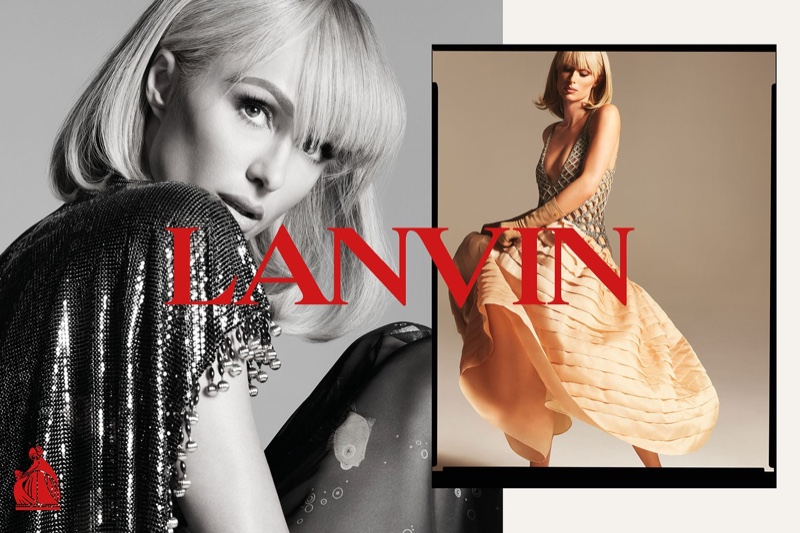 Paris Hilton stars in Lanvin spring-summer 2021 campaign.