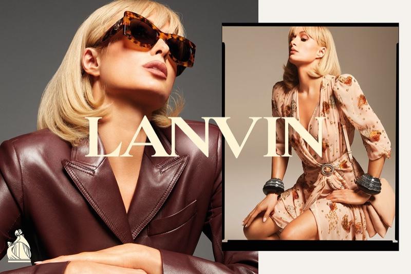 Paris Hilton appears in Lanvin spring-summer 2021 campaign.