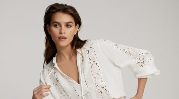 REISS Dottie Lace Detail Blouse $275
