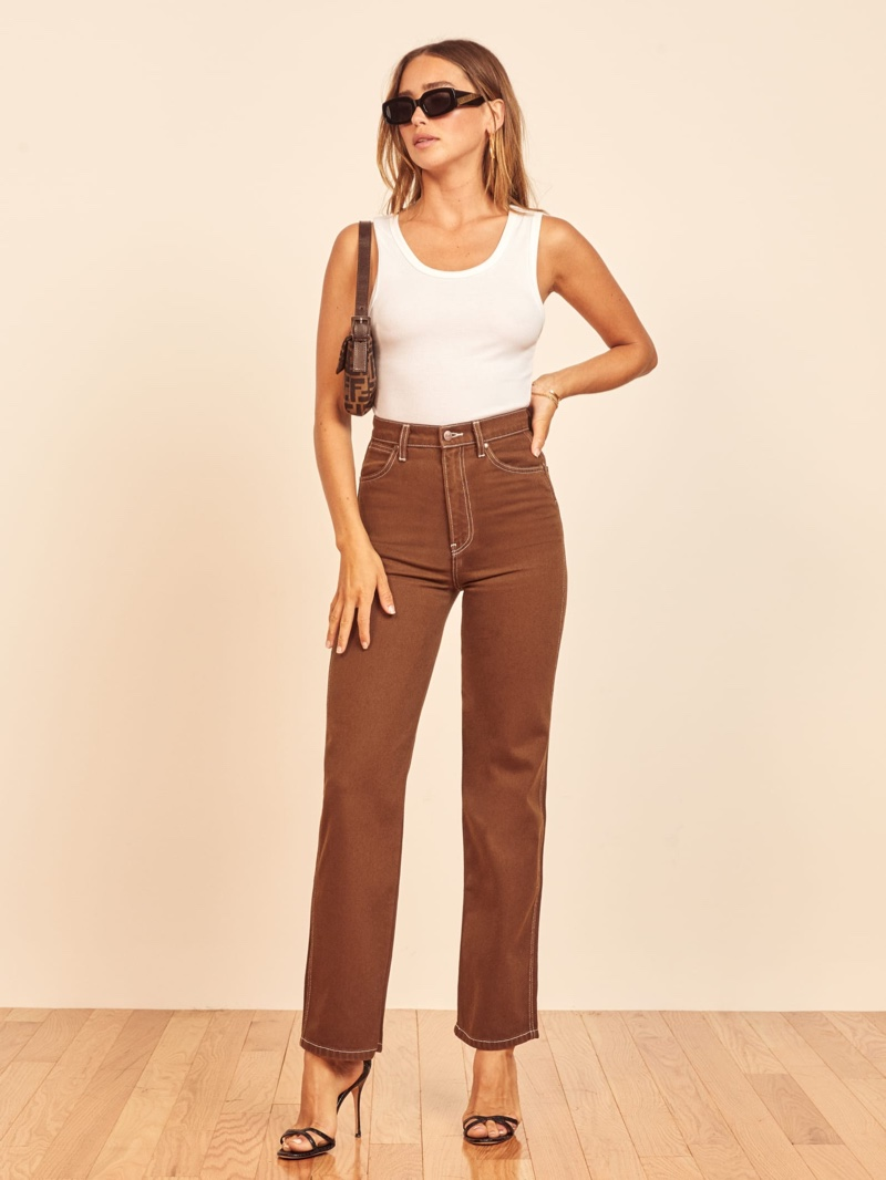 Reformation Cowboy High Rise Straight Jeans $128