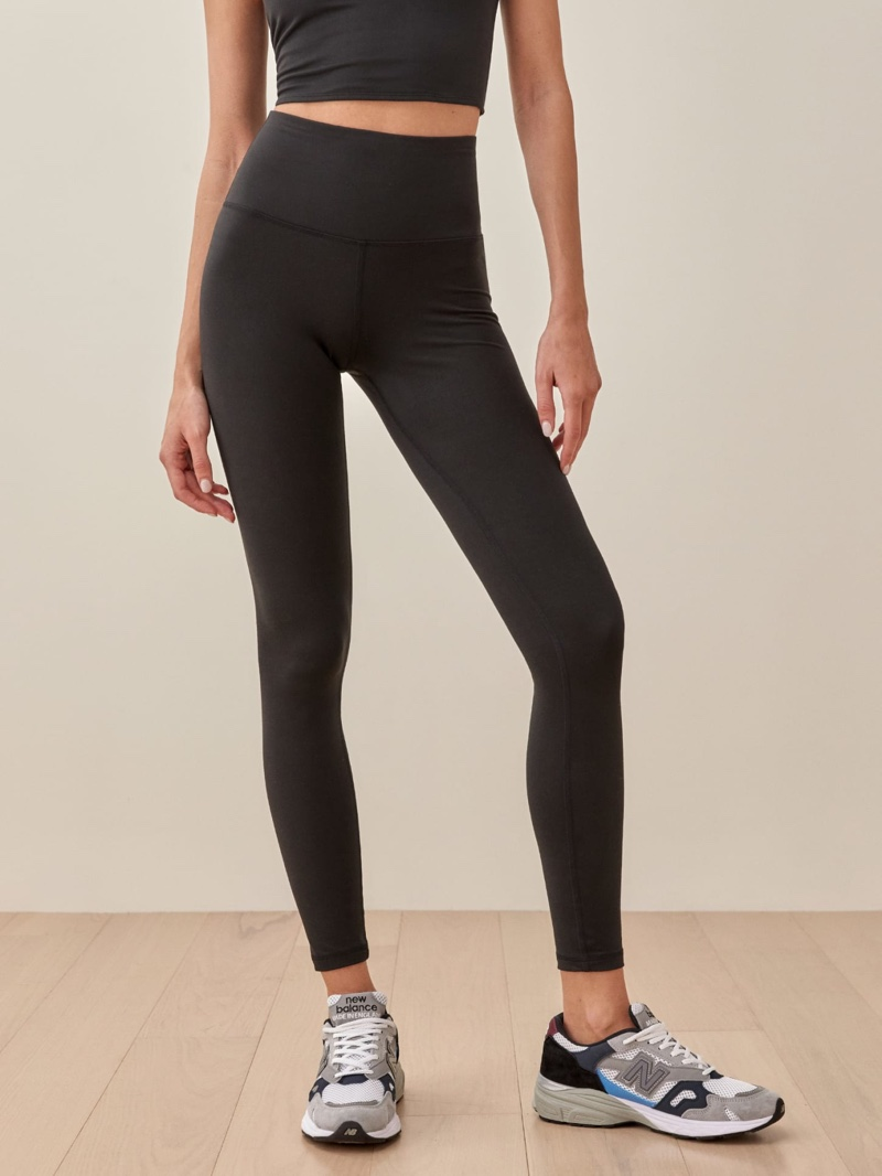 Reformation Ecostretch High Rise Legging in Black $88