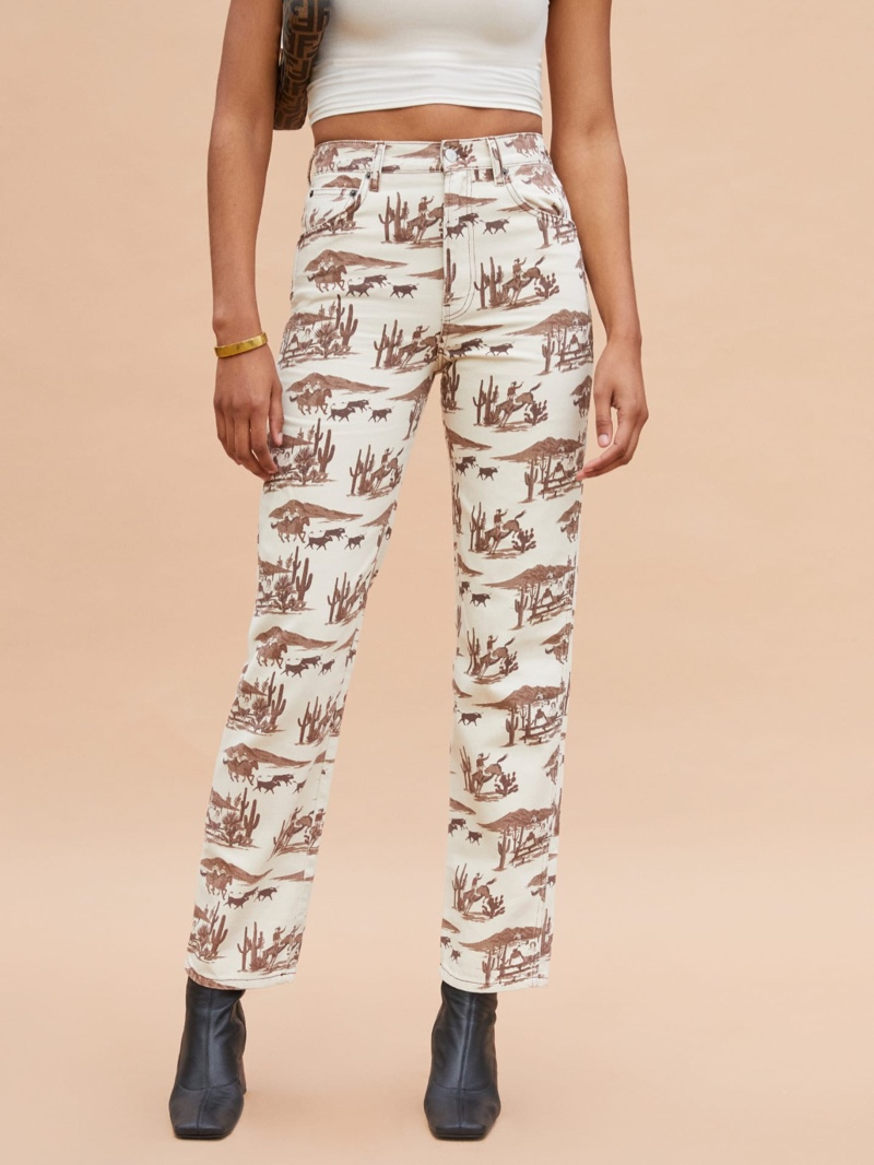Reformation Sonora High Rise Straight Jeans $178