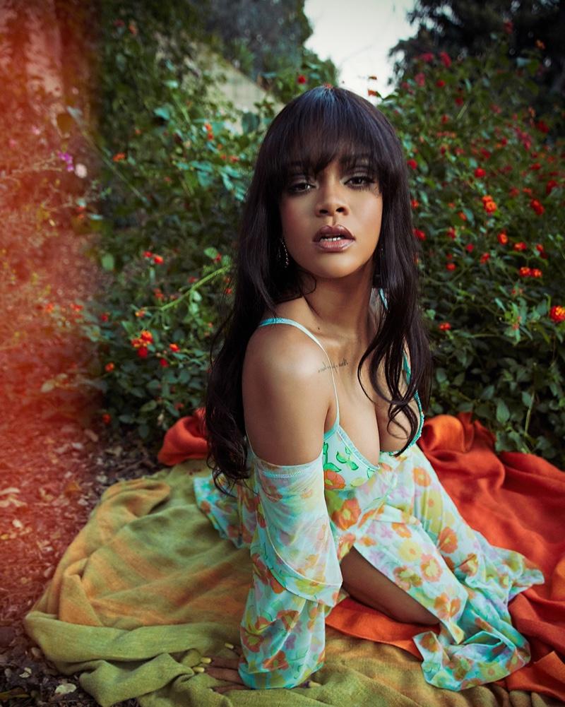 Designer Rihanna poses in Savage X spring 2021 lingerie campaign.