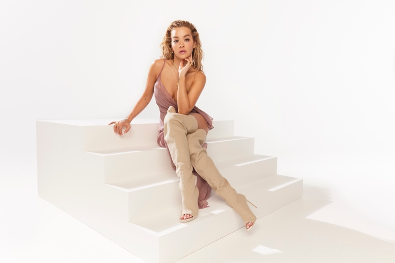 Golden Era Open Toe Stiletto Boot by Rita Ora x ShoeDazzle.