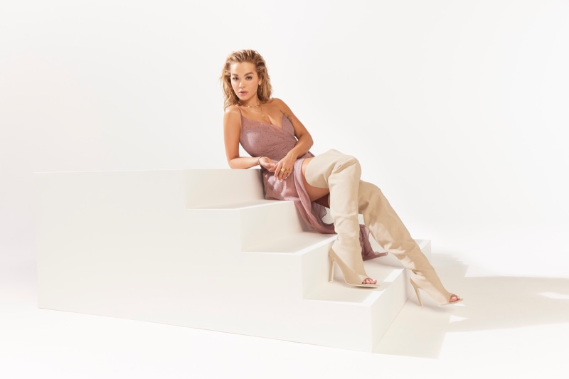 Rita Ora collaborates with ShoeDazzle on 1990s inspired footwear collection.