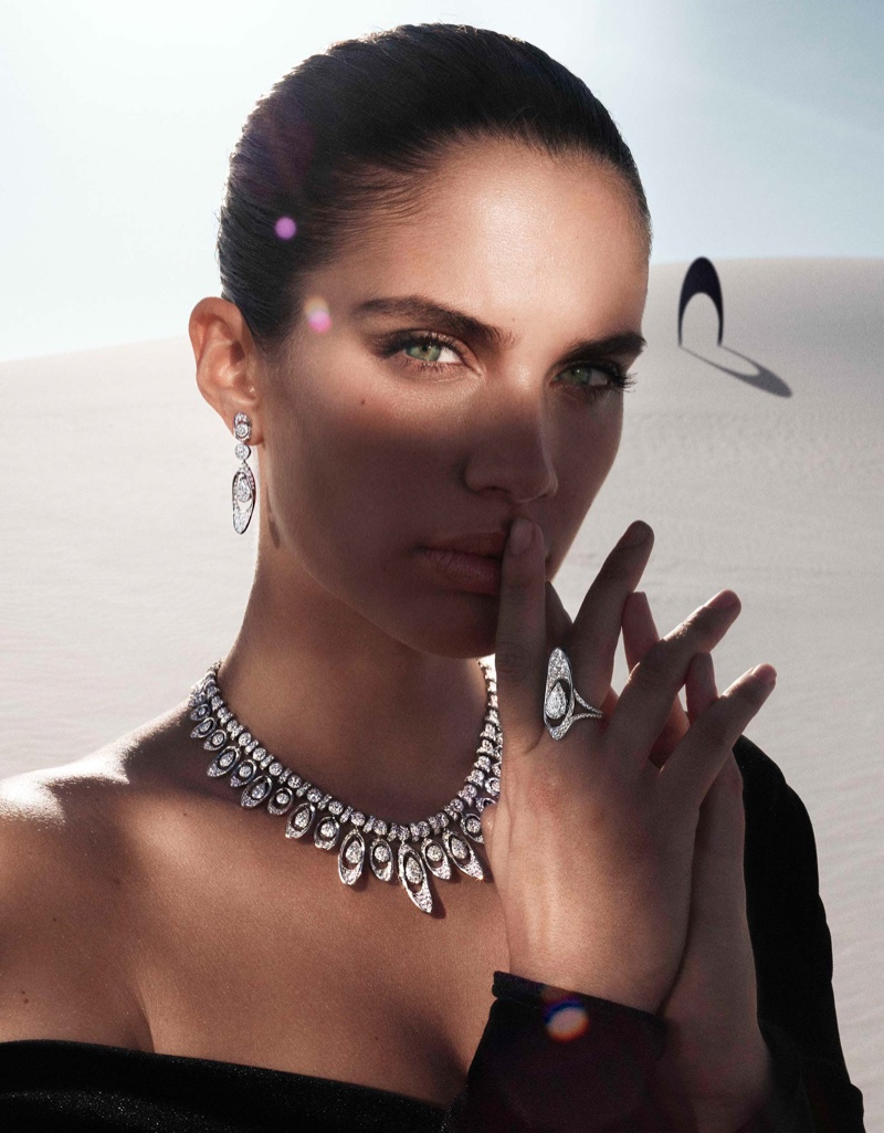 Sara Sampaio stars in Graff Tribal jewelry campaign.