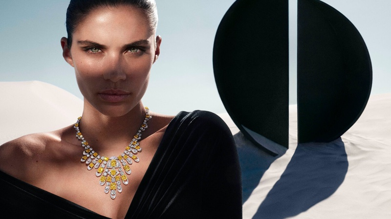 Model Sara Sampaio is the face of Graff's Tribal jewelry campaign.