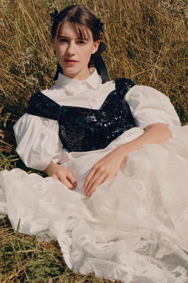 Daisy Edgar-Jones stars in Simone Rocha x H&M campaign.