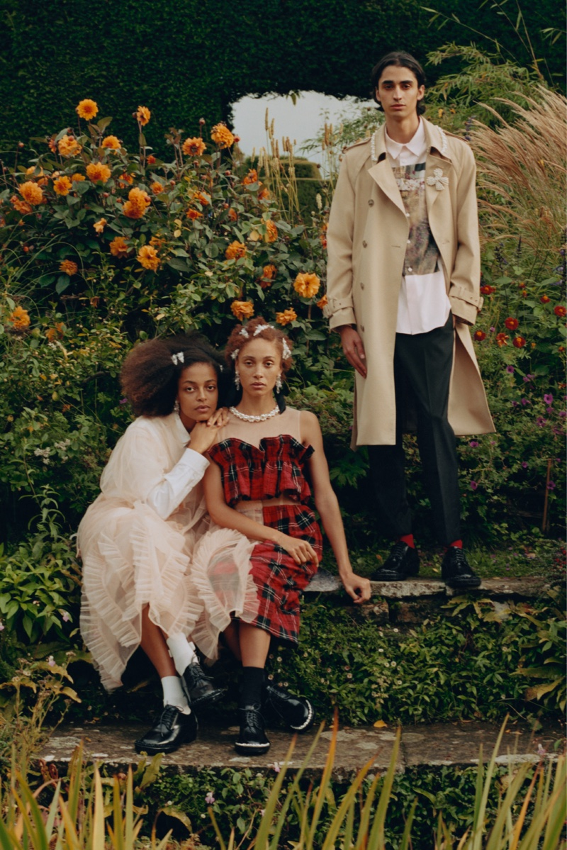 An image from Simone Rocha x H&M's advertising campaign.