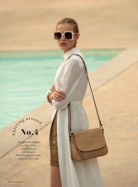 Maria Embraces Spring Break Fashion for Harper's Bazaar Greece