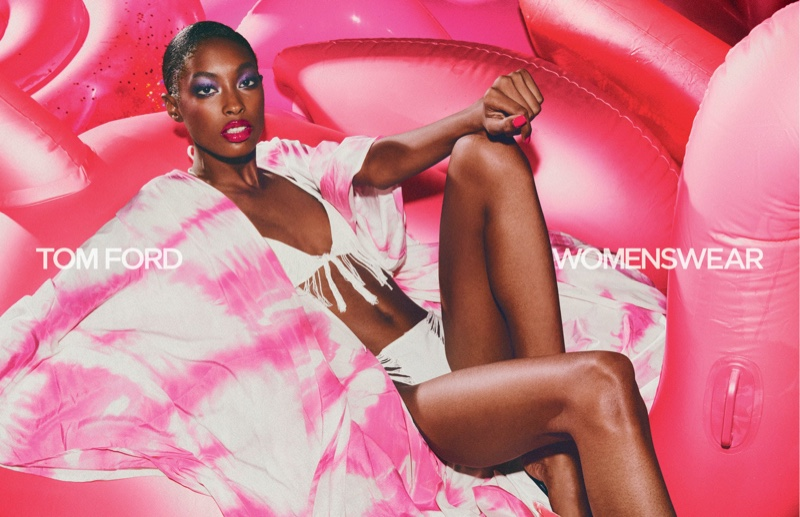 Makala Johnson fronts Tom Ford spring-summer 2021 campaign.