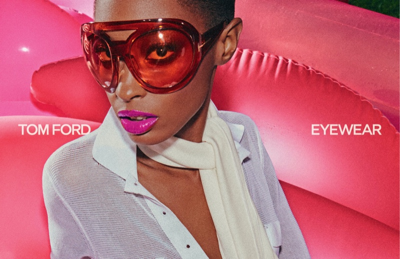 Tom Ford focuses on eyewear for spring-summer 2021 campaign.