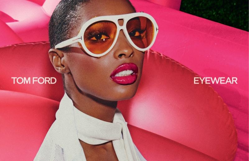 Makala Johnson gets her closeup in Tom Ford Eyewear spring-summer 2021 campaign.