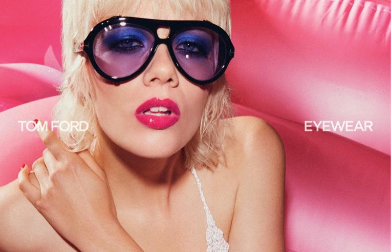 Marjan Jonkman poses for Tom Ford Eyewear spring-summer 2021 campaign.