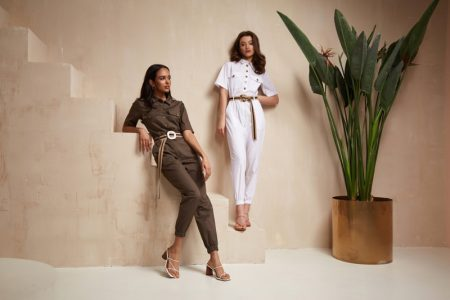 Two Models Jumpsuits Fashion Outfits