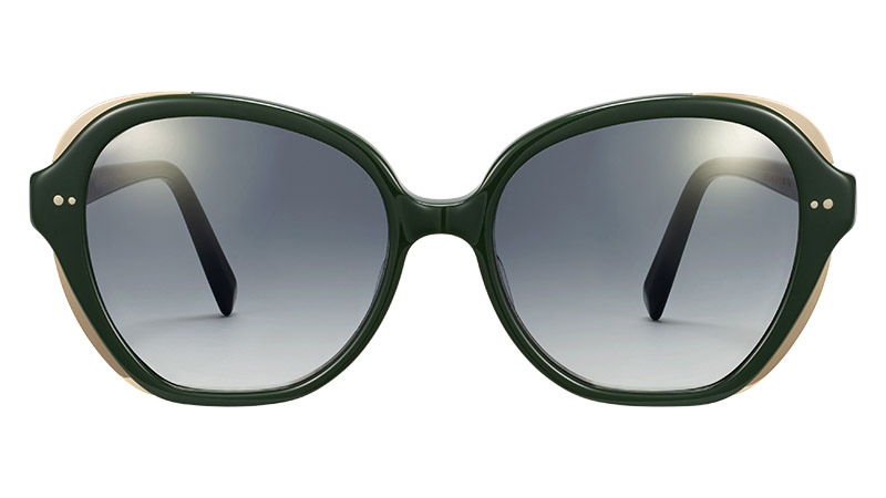 Warby Parker Adeline Sunglasses in Forest Green with Polished Gold $145