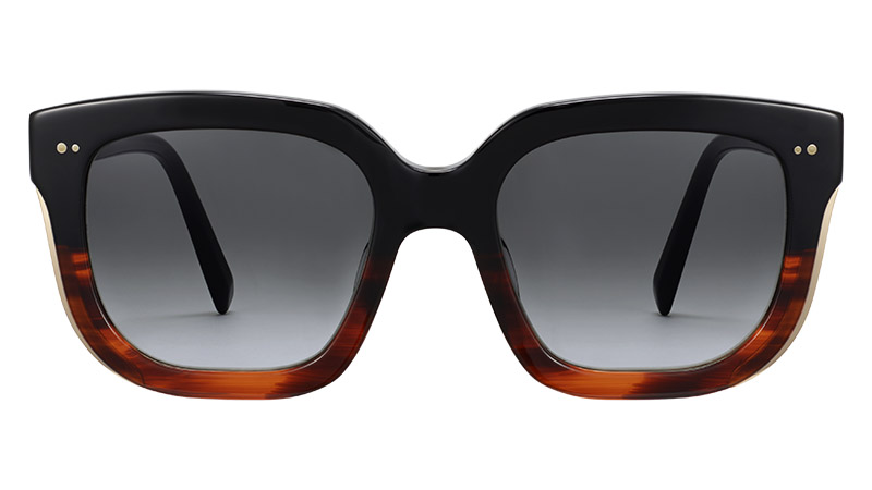 Warby Parker Darcy Sunglasses in Sugar Maple Fade with Polished Gold $145