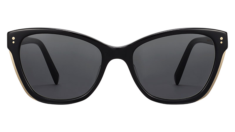 Warby Parker Tabitha Sunglasses in Jet Black with Polished Gold $145