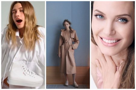 Week in Review | Adrienne Juliger's New Cover, Hailey Bieber in Superga, Angelina Jolie for Guerlain + More