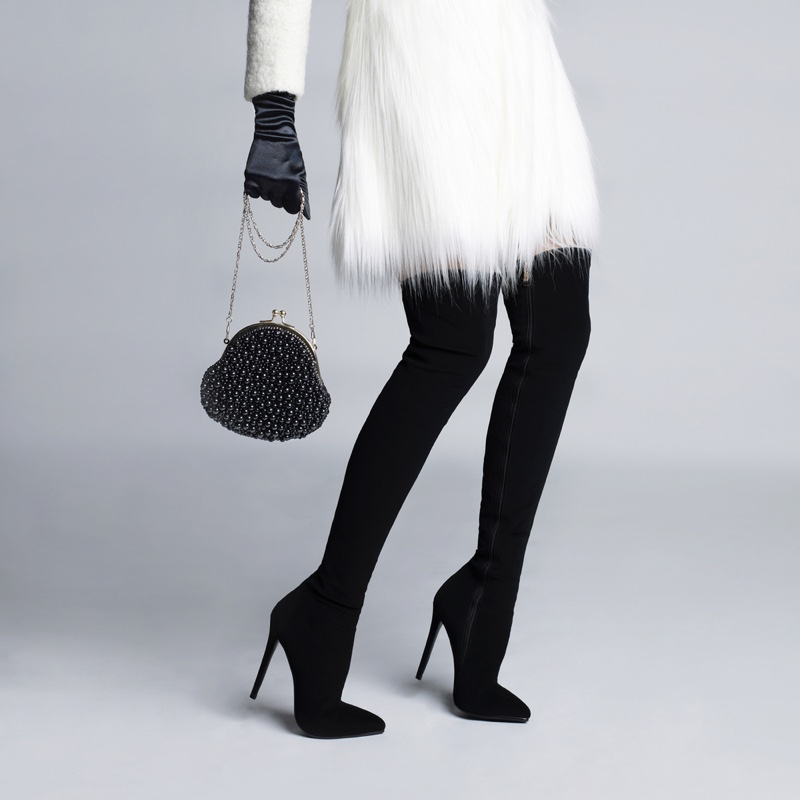 Woman Boots Winter Coat Bag Cropped