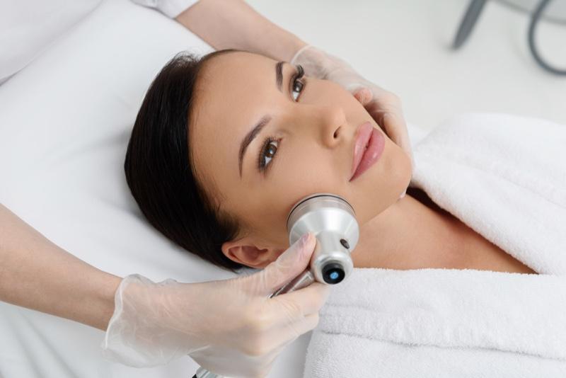 Woman Face Ultrasound Treatment
