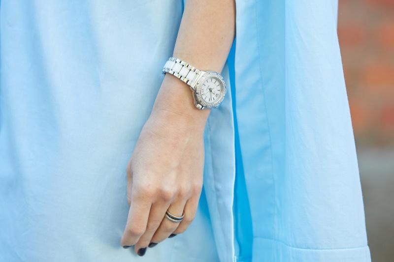 Woman Wearing Tag Heuer Watch